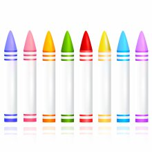 Wax Crayons Chunky Assorted 36 Pack Art Crafts Supplies For Kids