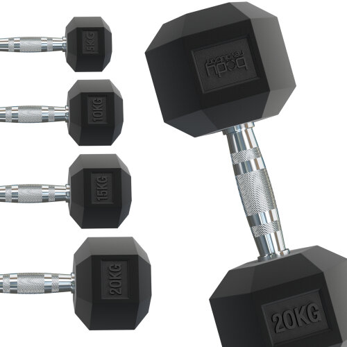 Hex Dumbbells Rubber Coated Weights