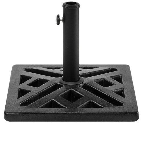 Square Umbrella Base Concrete Black