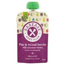 Babease  Stg1 Pear Mixed Berries Rice & Quinoa 100g x 8