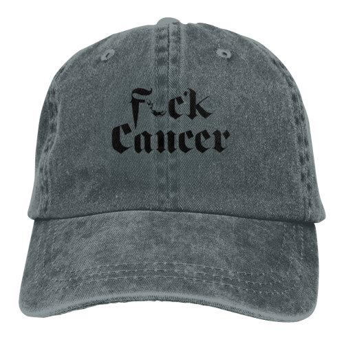 F#ck Cancer Denim Baseball Caps