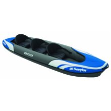 Inflatable Kayak, Three Person - Blue