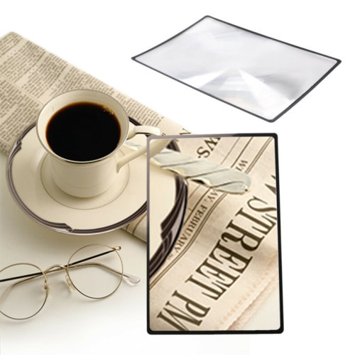 A5 Magnifying Sheet Magnifier Full Page Reading Glass Magnification