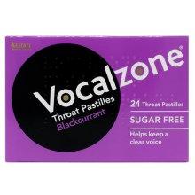 Vocalzone Throat Pastilles Blackcurrant Sugar Free (24 Pastilles)