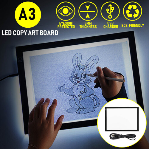 A3 Artist LED Drawing Board Tracing Table Stencil Tattoo Display Light