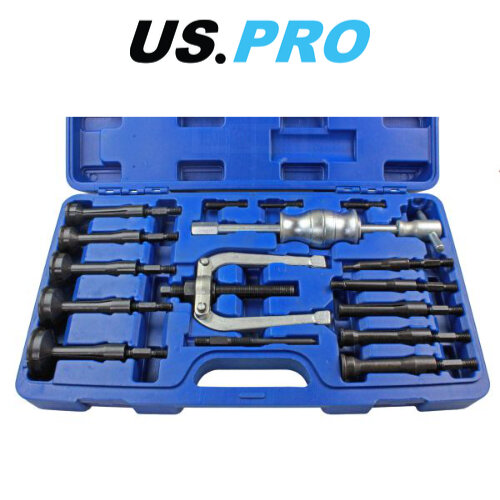 US PRO Tools Bearing Extractor Puller Remover Inner Blind Bearing Removal Set 16pcs