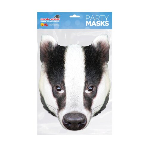 Mask-arade Badger Party Face Mask