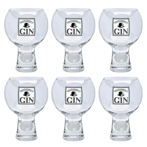 Durobor Raising Spirits Set Of 6 Gentlemen's Gin Glasses
