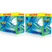 Flash Speedmop & 60 Wet Mop Cloth Refills Giga Pack of 2