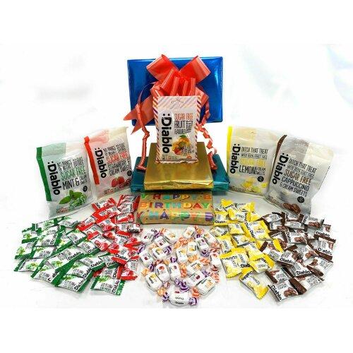 Diablo Sugar Free Diabetic Sweets Retro Chocolate 5 x 75g Gift Hamper