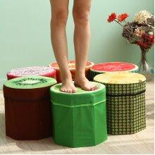 Creative Fruit Folding Storage Organizer Ottoman Stool