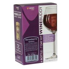 WineBuddy Strawberry 6 Bottle - 7 Day Home brew Wine Making Refill Kit