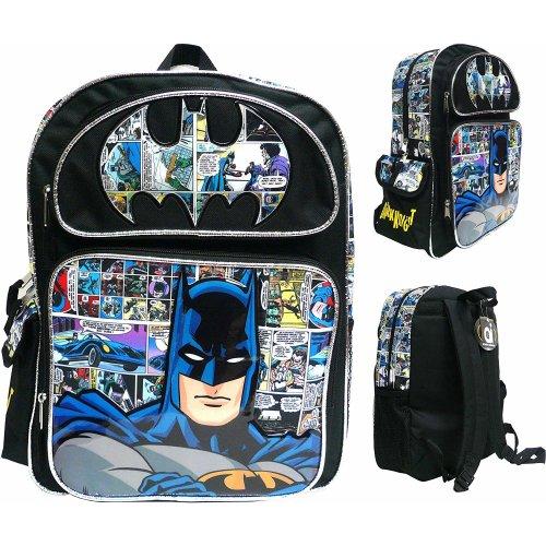 """Backpack - DC Comics - Batman Logo Comic 16"""" New 199603"""