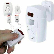 Wireless PIR Motion Sensor Alarm+2 Remote Controls Shed Garage Caravan
