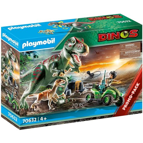 Playmobil Dino T-Rex Attack with Raptor & Quad