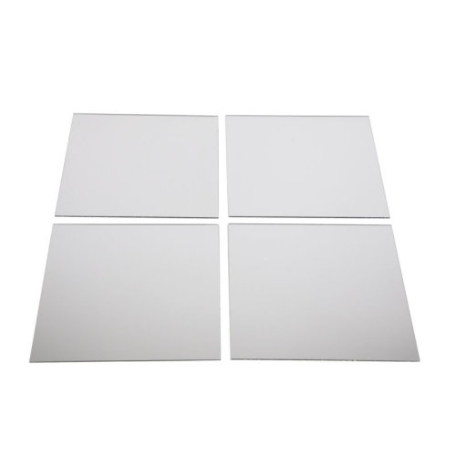 4pk Square Wall-Mounted Self-Adhesive Mirror Tiles - 4 x 20cm Tiles