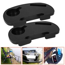 2pc Zero Gravity Recliner Sun Lounger Chair Clip Side Tray Holder