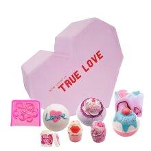 Bomb Cosmetics Large True Love Bath Bomb, Soap & Cream Body Gift Set