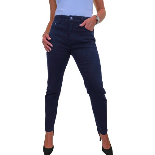 Women's Slim Soft Stretch Denim Jeans High Waist Solid Colour 10-22