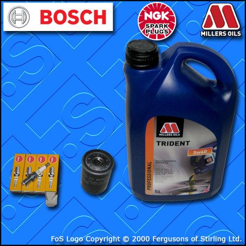 SERVICE KIT PEUGEOT 307 1.6 16V PETROL OIL AIR FUEL CABIN FILTER PLUG 2004-2005