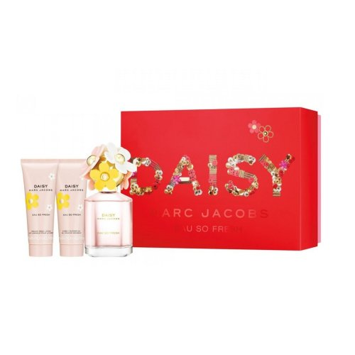 Marc Jacobs Daisy Eau So Fresh - Gift Set With 75ml EDT Spray, 75ml Body Lotion and 75ml Shower Gel
