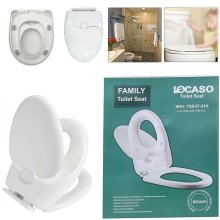 3 IN 1 Luxury Soft Close Bathroom Family Child Toilet Seat