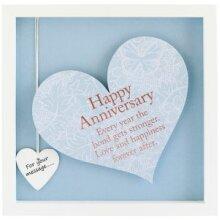 Sentiment Heart Frame - Square- Happy Anniversary