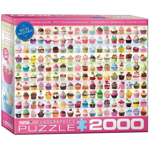 "Eg82200629 - Eurographics Puzzle 2000 Pc - Cupcakes Galore """"new"""""