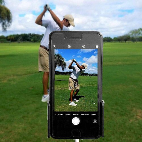 Golf Phone Holder Clip Swing Recording Training Cell Clip for Alignment Stick