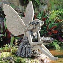 14cm Garden Sitting Fairy Statue Lawn Figurine Ornament