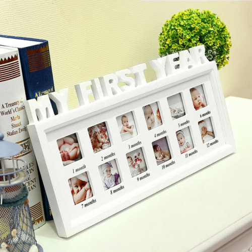 Baby My First Year Photo Frame Multi Picture Display Anniversary Gift