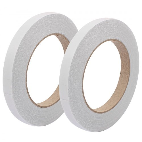 Double Sided Sticky Tape – Pack of 2 Sizes (9mm & 12mm – 33mtrs per roll) Self-Adhesive Tissue Tape / Double Sided Craft Tape