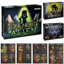 Xmas Card Board Game One Night Ultimate Werewolf Alien Adult Kids Game Toy