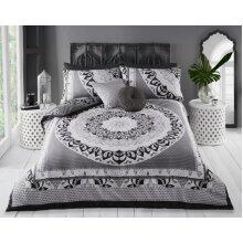 Paisley Mandala Duvet Single Black 135x200cm Approx With 1 Pillowcase