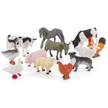 Learning Minds Set of 12 Jumbo Farm Animals