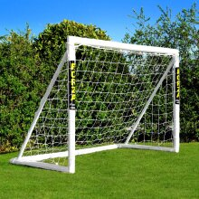 Football Goal [6ft x 4ft] | Garden Kids Football Goals – 70mm Thick PVC Goal Posts + Football Net | Locking System