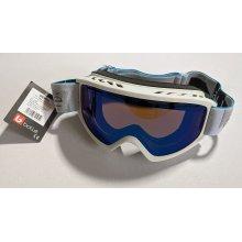Bolle Unisex Sierra Winter Snow Ski Goggles, White & Blue, Small/Medium