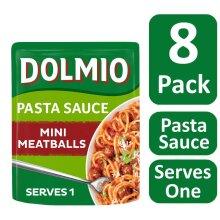 8 x Dolmio Pasta Sauce with Mini Meatballs, 150g