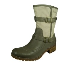 """Timberland Apley 8"""" Earthkeepers Womens Ankle Boots Zip - Grey + Green"""