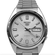 Seiko 5 Automatic Silver Dial Stainless Steel Mens Watch SNXS73K1