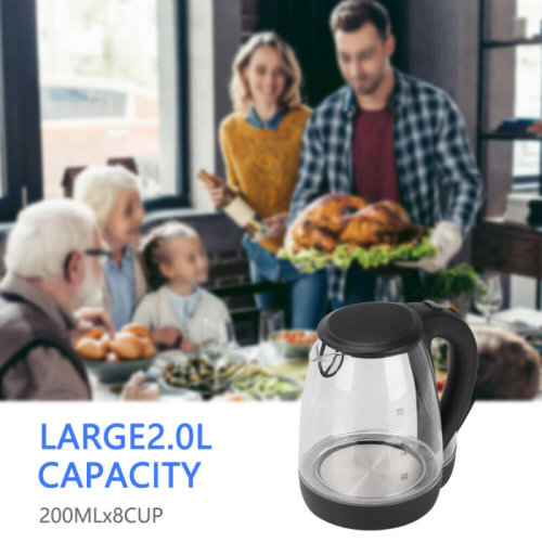 2.0L Electric Kettle LED Illuminated 360° Cordless Kettle Jug 2200W