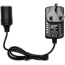 Car Plug Adapter, 240V 2A AC Mains to 12V DC Car Converter Cigarette Lighter Socket Voltage Converter Power Adapter, Household Cigarette Lighter
