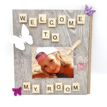 Welcome to My Room Scrabble Photo Holder