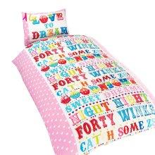 Childrens Girls Love To Dream Duvet Cover Bedding Set