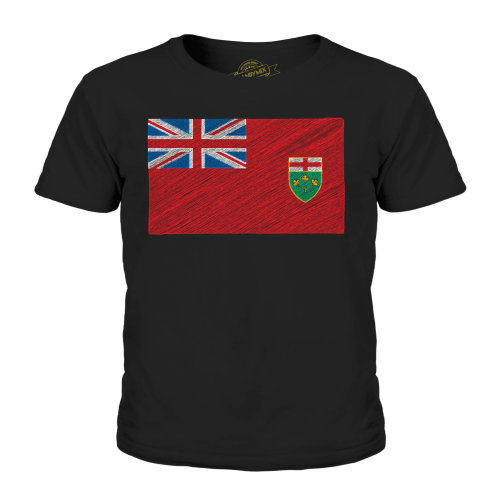 Candymix - Ontario State Scribble Flag - Unisex Kid's T-Shirt