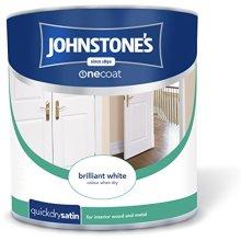 Johnstone's One Coat Quick Dry Satin - Brilliant White