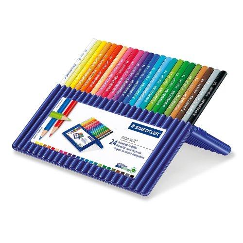 Staedtler 157 SB24 Ergosoft Triangular Colouring Pencils -  Pack of 24