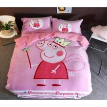 3D Peppa Pig 18011 Bed Pillowcases Quilt