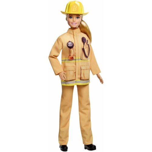 Barbie GFX29 Career 60th Doll, I Can Be a Firefighter