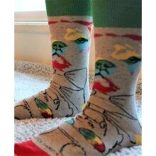 Reflective Rainbow Dog Sock